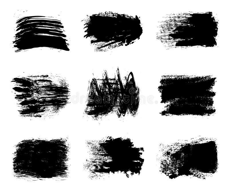 Kolekcja farba, muśnięć uderzenia - wektor ilustracji