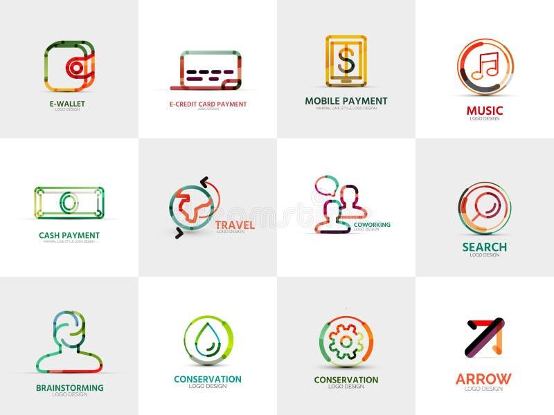Kolekcja firma logowie, biznesowi pojęcia ilustracja wektor
