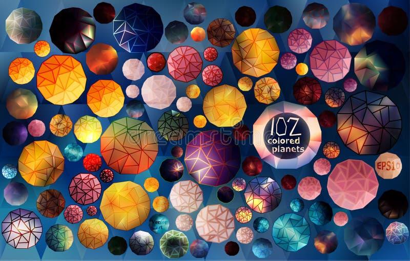 Kolekcja geometrical sfery obrazy stock