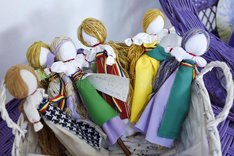 Kolekcja handmade lale od Rumunia obrazy royalty free
