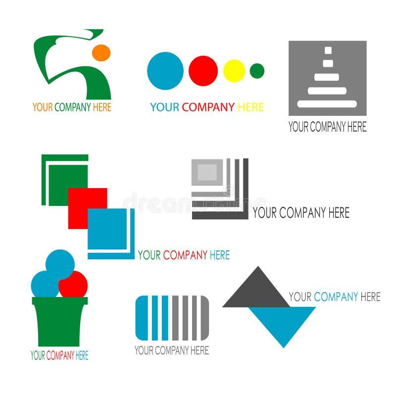 Kolekcja kolorowy biznesowy loga szablon ilustracja wektor