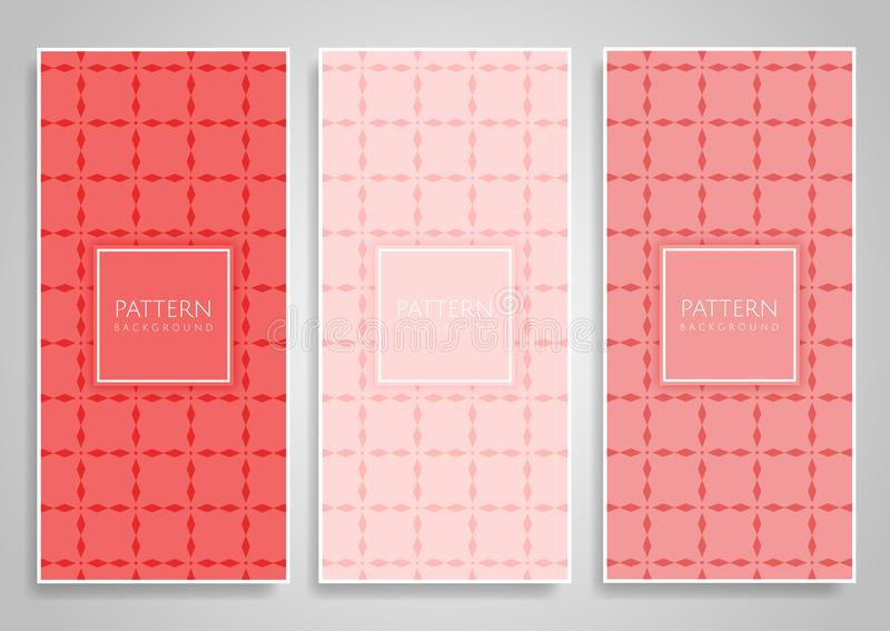 Kolekcja koralowego colour sztandaru o temacie projekty royalty ilustracja