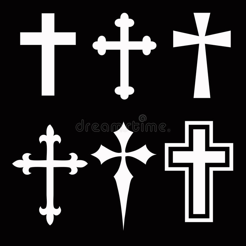 kolekcja krzyż obraz royalty free