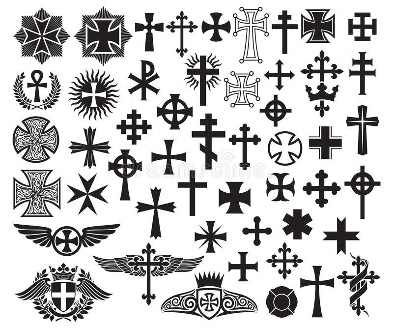 kolekcja krzyż ilustracji