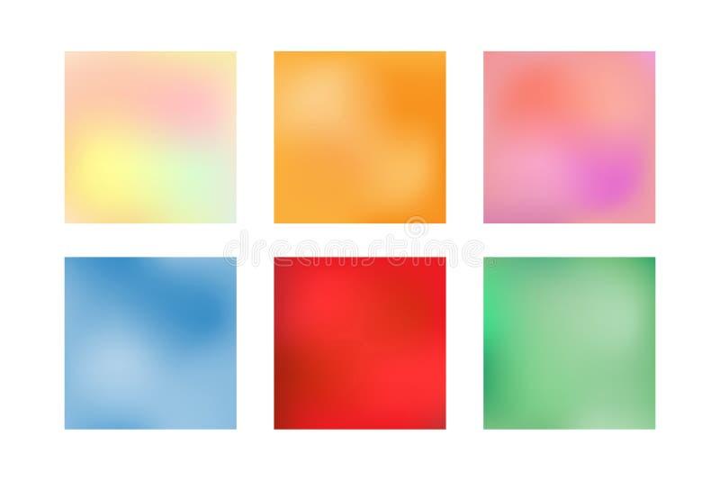 Kolekcja kwadratowi rozmyci tła, sztandary, plakaty, szablony ilustracji