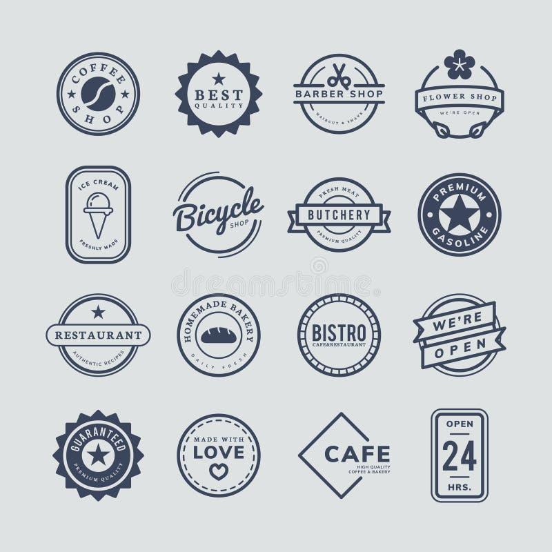 Kolekcja loga i odznaki wektory ilustracji