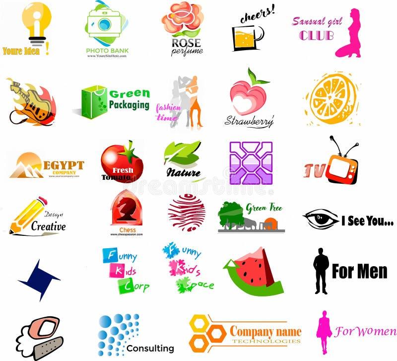 Kolekcja logo, ikony i ilustracje unassigned, ilustracja wektor