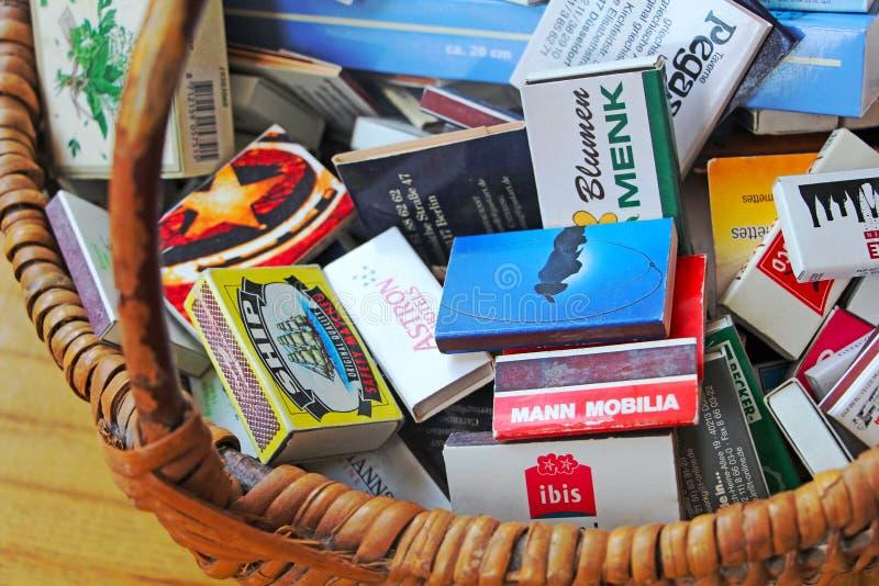 Kolekcja matchboxes fotografia royalty free