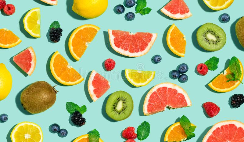 Kolekcja mieszane owoc fotografia stock