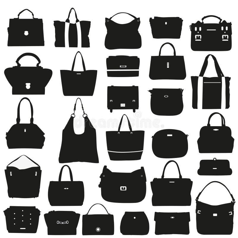 Kolekcja modne torebki ilustracja wektor