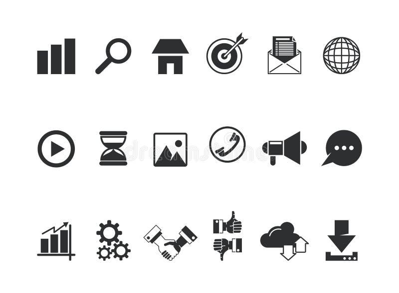 Kolekcja multimedialne ikony ilustracji