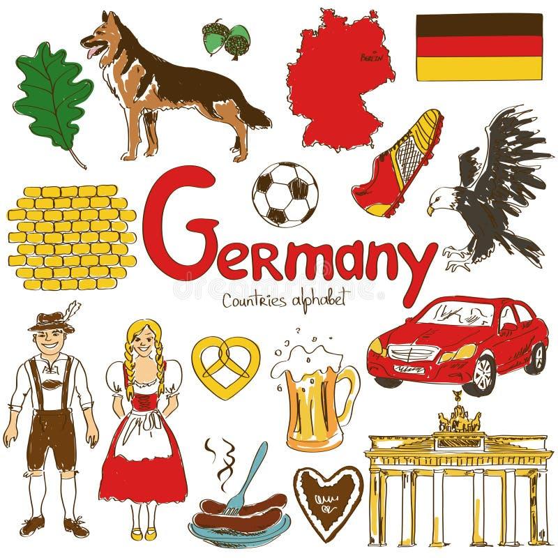 Kolekcja Niemcy ikony ilustracji