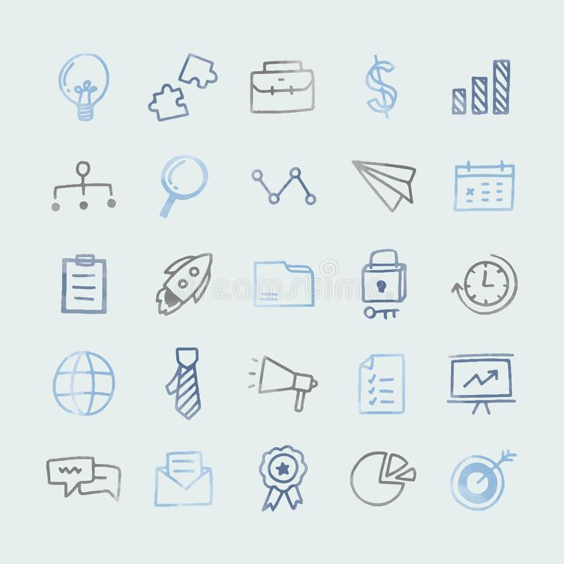 Kolekcja obrazkowe biznesowe ikony ilustracja wektor