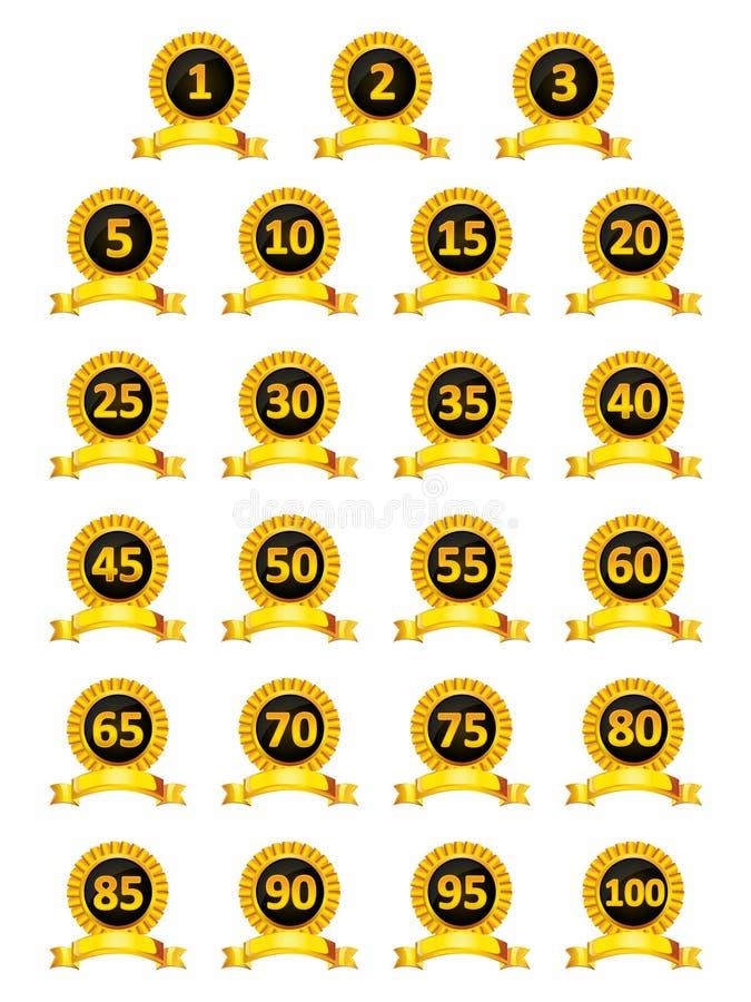 Kolekcja odznaki i monogramy royalty ilustracja