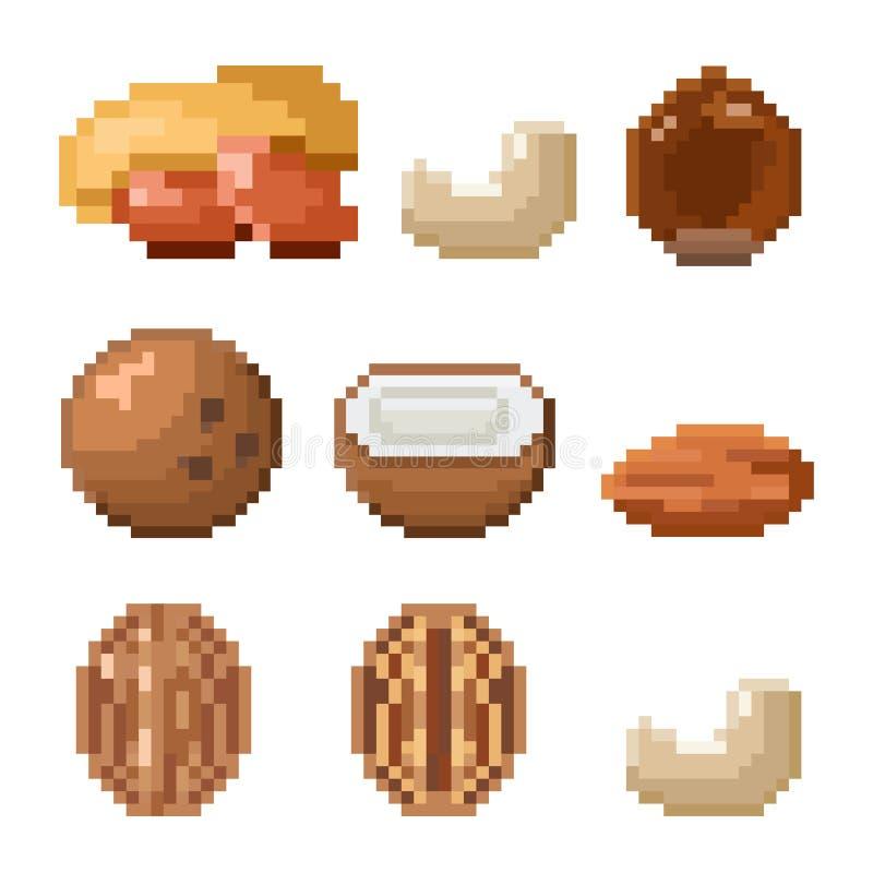 Kolekcja piksel dokrętki ilustracji