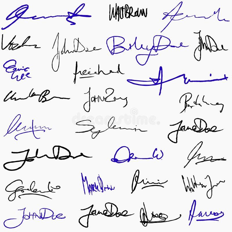 Kolekcja podpisy royalty ilustracja