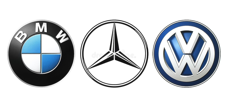 Kolekcja popularni Niemieccy samochodowi logowie ilustracji
