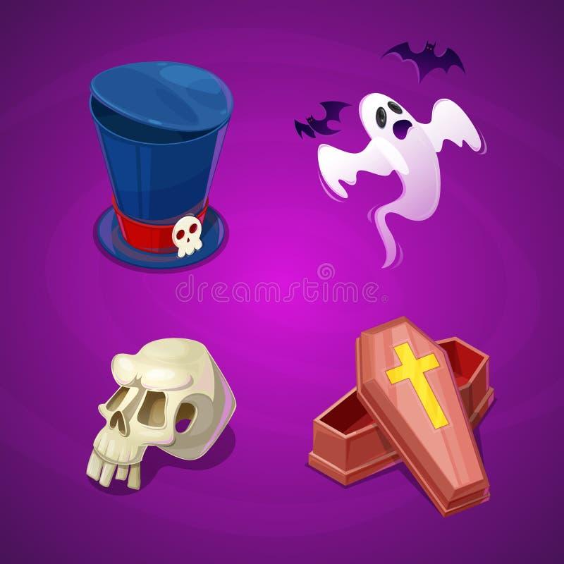 Kolekcja powiązani Halloween przedmioty fotografia royalty free