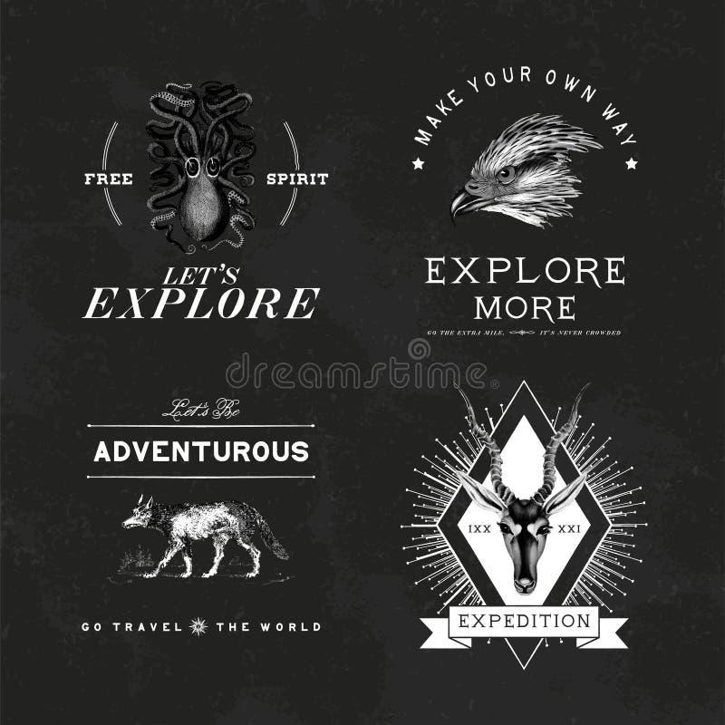 Kolekcja przygoda logo projekta wektory ilustracji