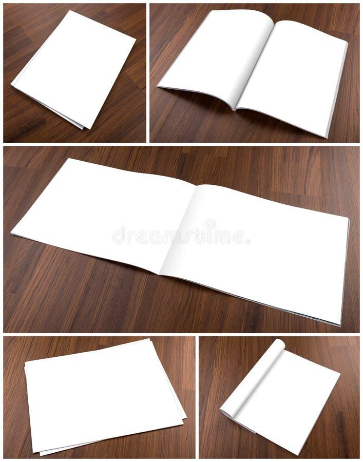 Kolekcja Pusty katalog, broszurka, magazyny, książka egzamin próbny up dalej zdjęcie royalty free
