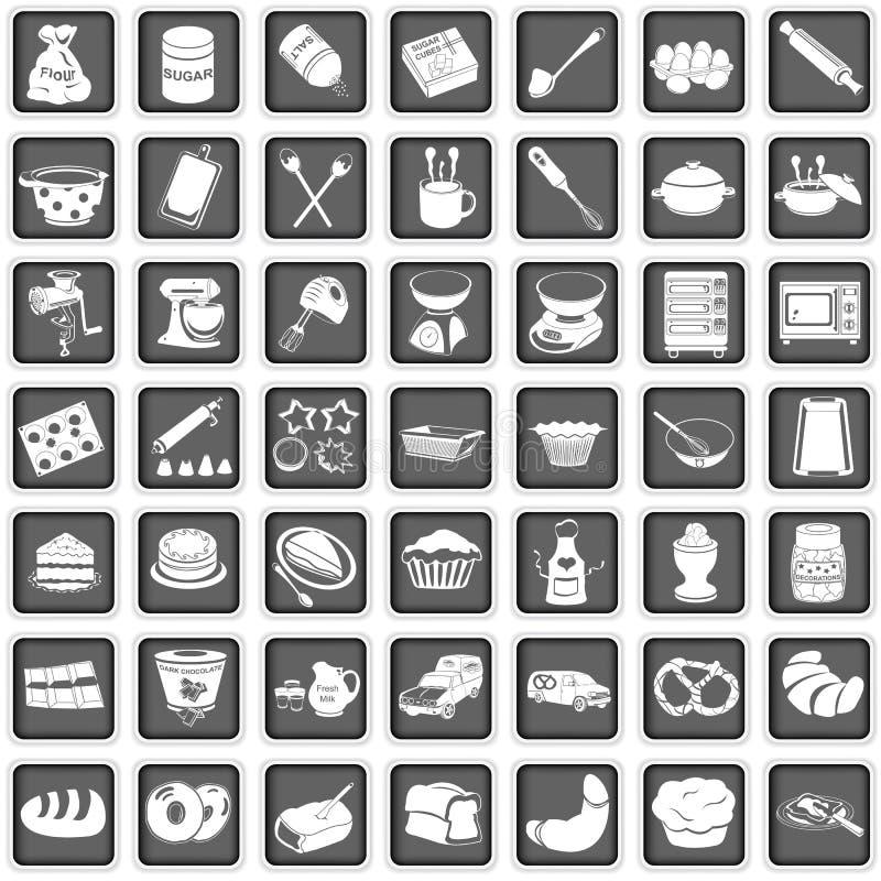 Wypiekowe ikony ilustracji