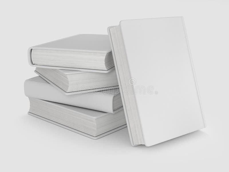 Kolekcja różnorodne puste białe książki na bielu zdjęcie royalty free