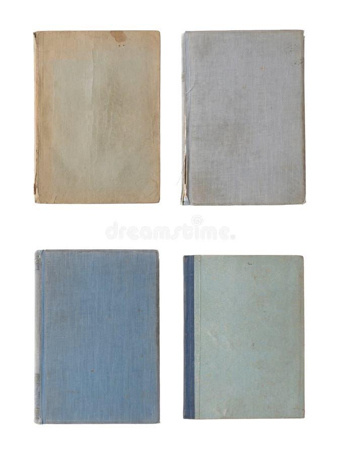 Kolekcja różnorodne stare książkowe pokrywy odizolowywać na bielu fotografia stock