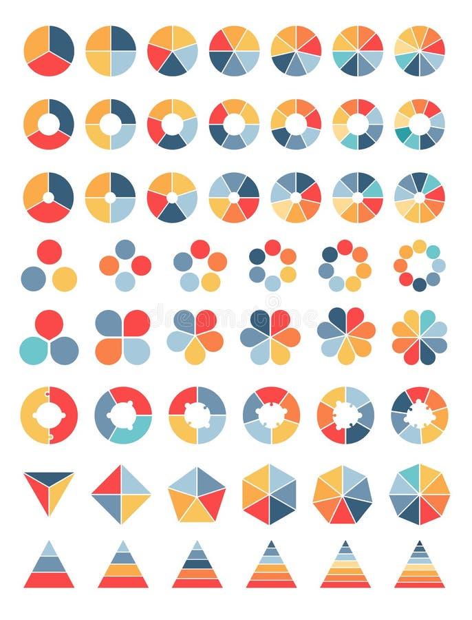 Kolekcja różnorodni diagramy ilustracja wektor