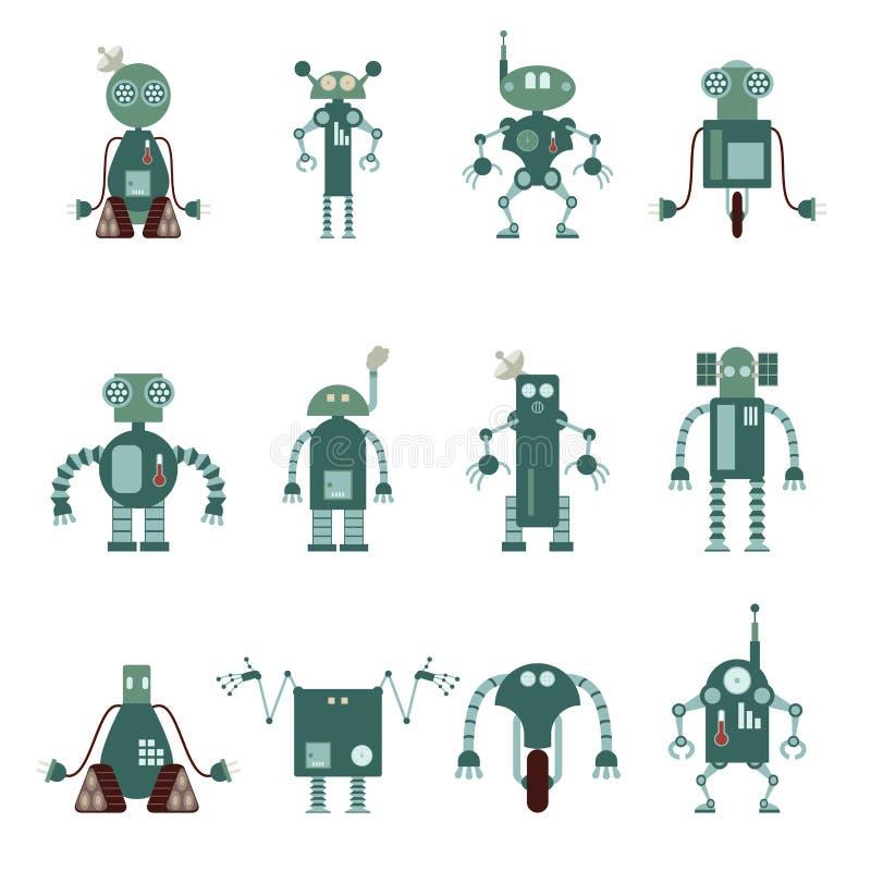 Kolekcja robot ikony royalty ilustracja