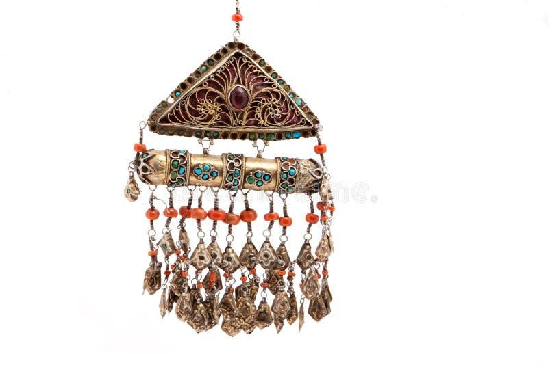 Kolekcja rocznika obywatel i srebro biżuteria, kazach obywatela biżuteria fotografia stock