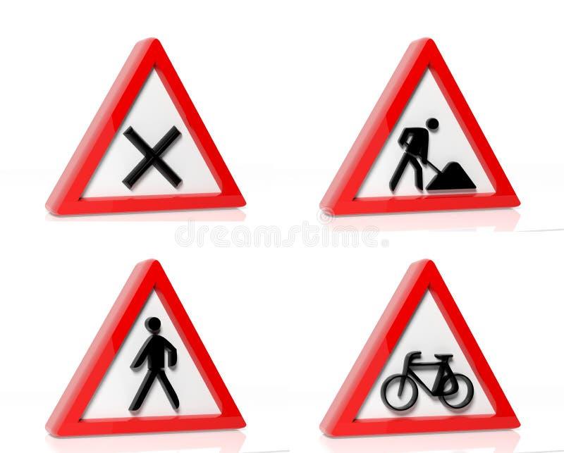 Kolekcja ruchów drogowych znaki ilustracji