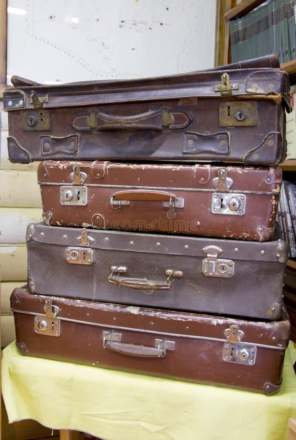 Kolekcja stare walizki obraz royalty free