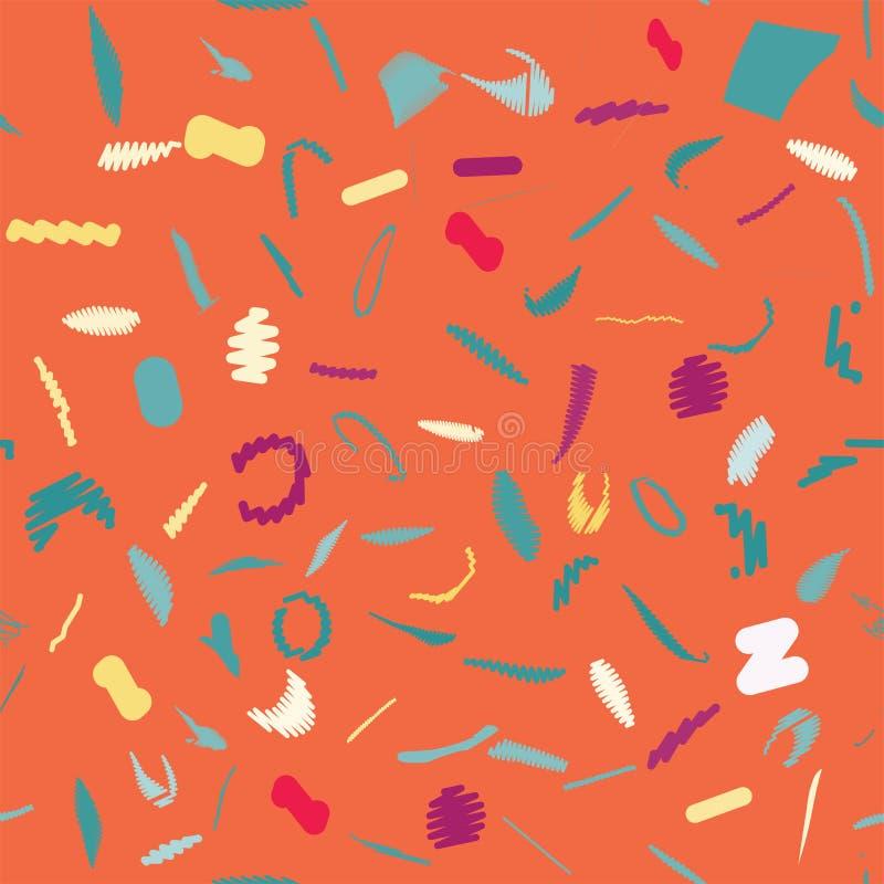 Kolekcja swatches Memphis wzory - bezszwowi Moda 80-90s ilustracja wektor
