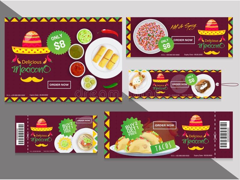 Kolekcja talony lub etykietki z różnymi dyskontowymi ofertami dla ilustracji