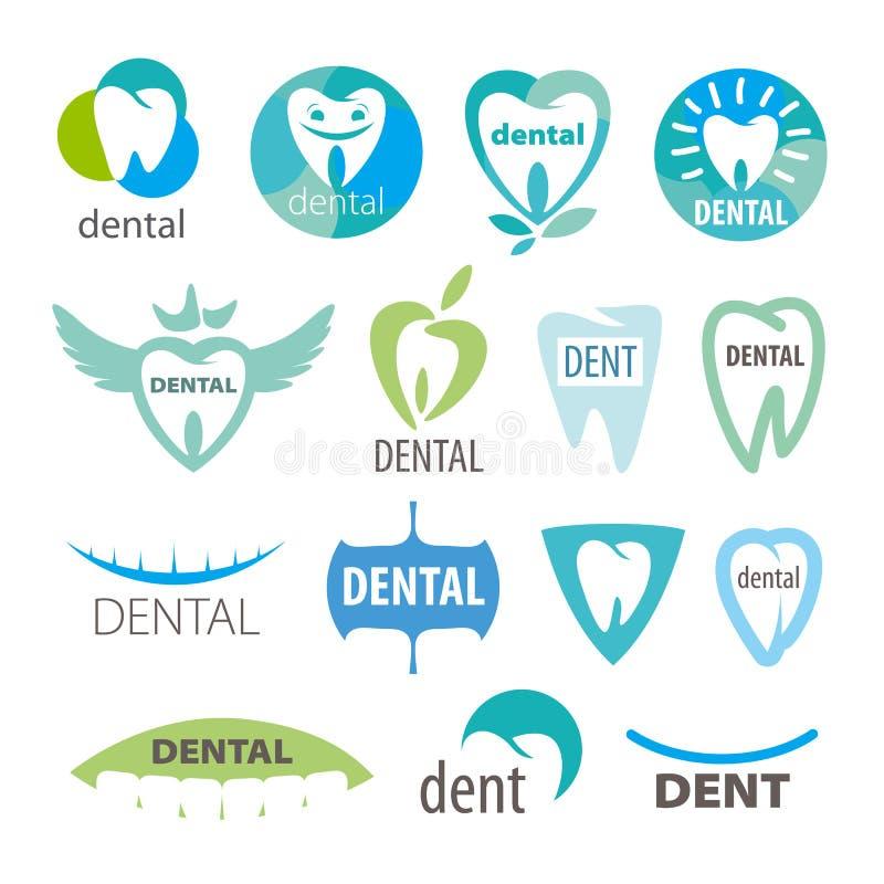 Kolekcja wektorowa logo dentystyka ilustracja wektor