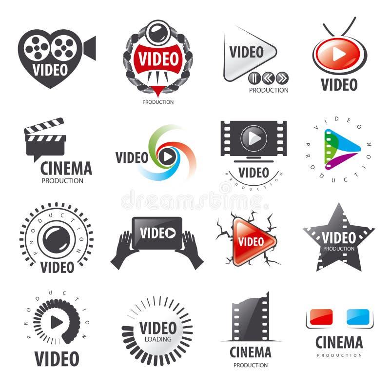 Kolekcja wektorowi logowie dla wideo produkci royalty ilustracja