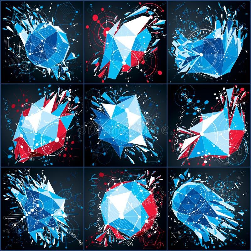 Kolekcja wektorowi technologii cyfrowych tła robić z ge ilustracja wektor