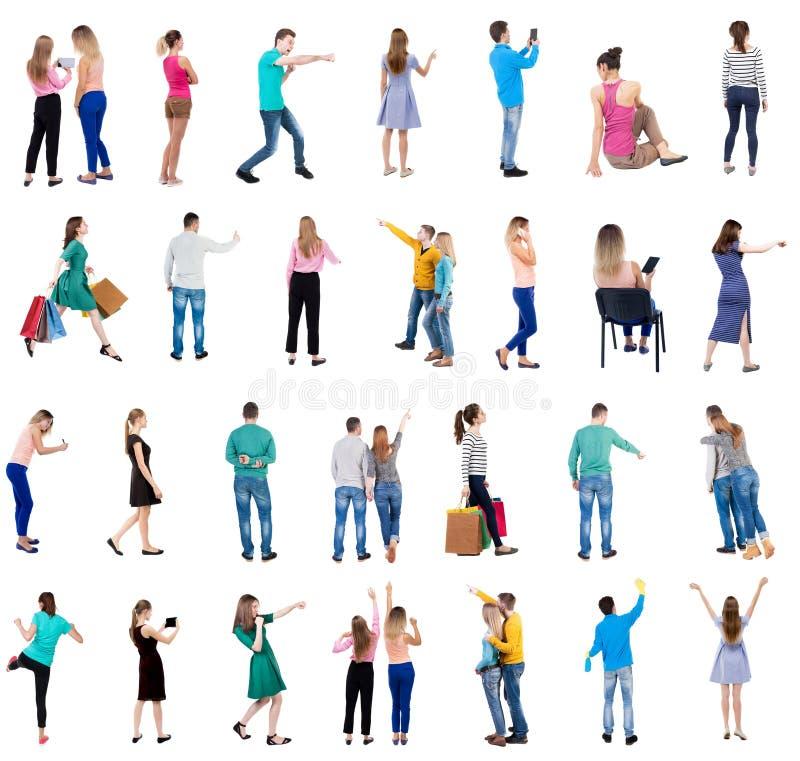 Kolekcja widoku Tylni ludzie zdjęcie royalty free
