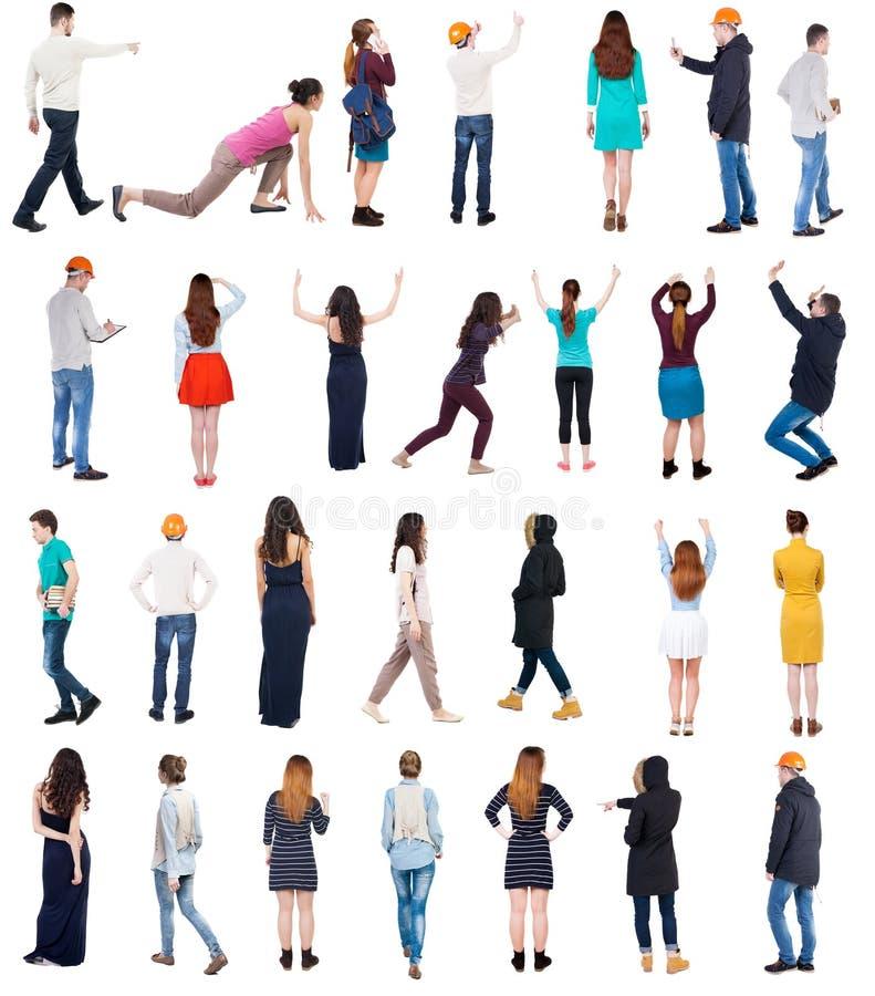 Kolekcja widoku Tylni ludzie fotografia stock