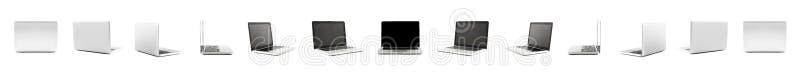 Kolekcja Wysocy definicja widoki projekta laptop zdjęcie stock