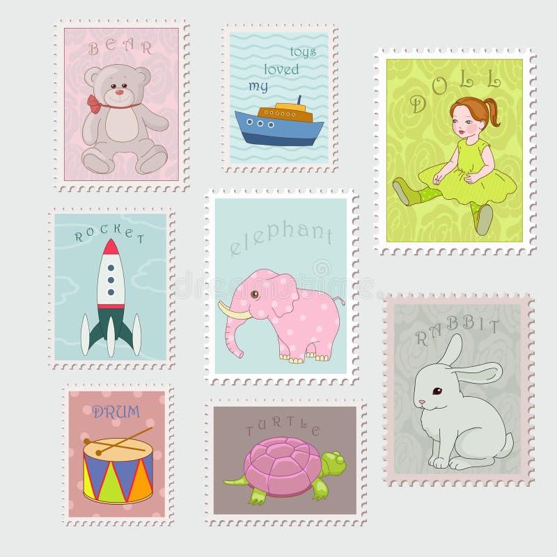 Kolekcja znaczek ilustracja wektor