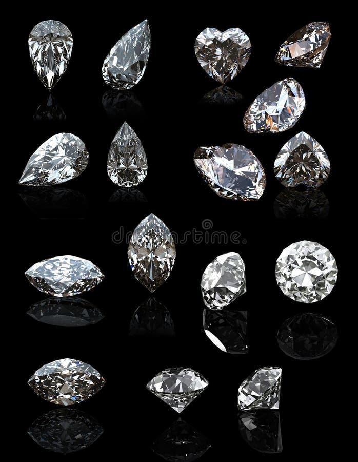 Kolekcje biżuterii gemstone ilustracja wektor