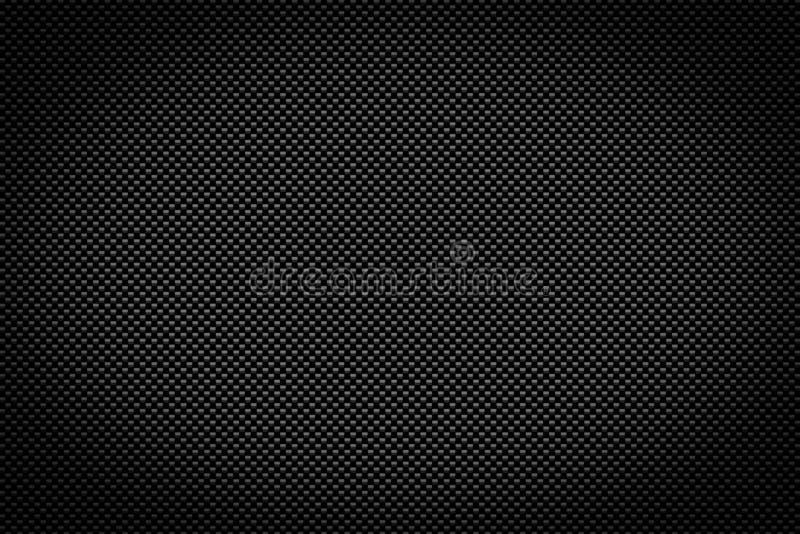 Kolfiberbakgrund, svart textur vektor illustrationer