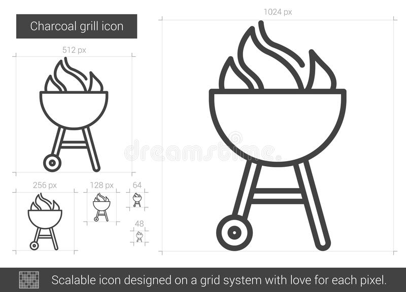Kolgallerlinje symbol vektor illustrationer