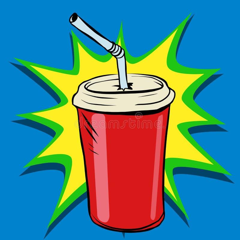 Koli zlewki tubki fasta food napój royalty ilustracja