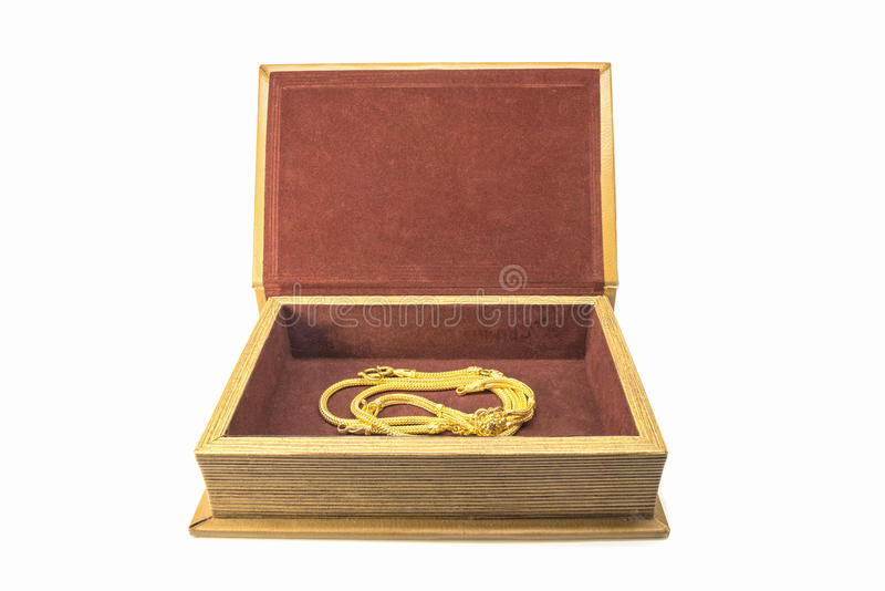 Kolia w skarbu pudełku obrazy royalty free