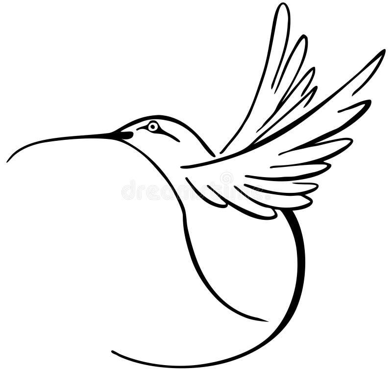 Kolibrie stock illustratie