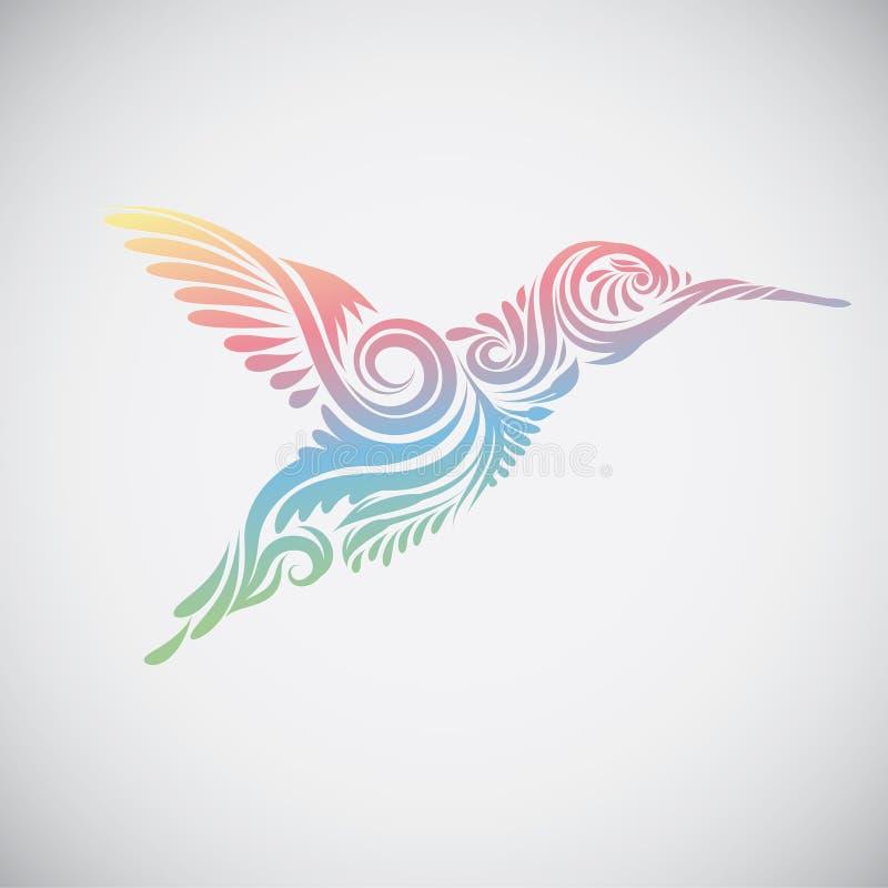 Kolibrie Sier stock illustratie