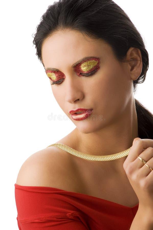 kolii złocista kobieta zdjęcie royalty free