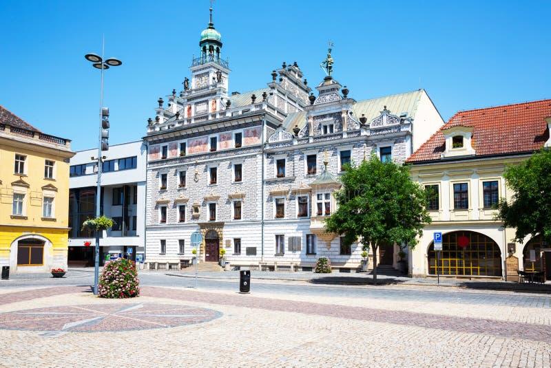 Kolin marketplace, view of City Hall royalty free stock photo